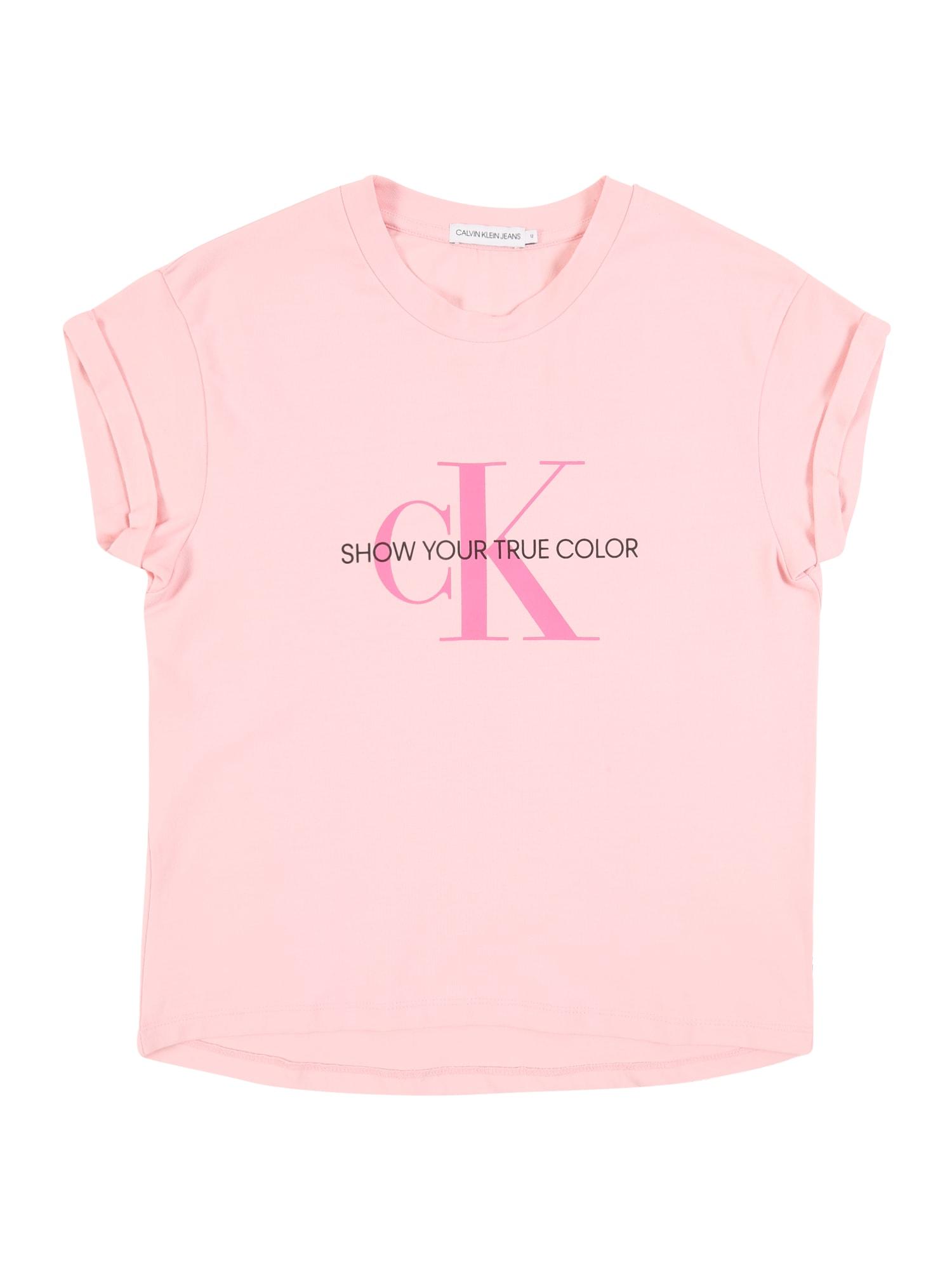 Calvin Klein Jeans Marškinėliai rožių spalva / rožinė