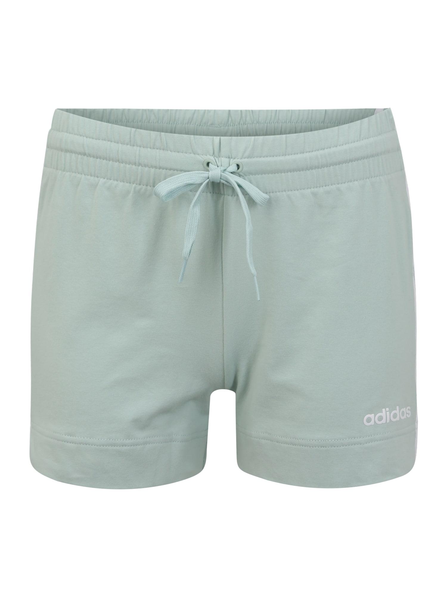 ADIDAS PERFORMANCE Sportinės kelnės 'W E 3S' balta / mėtų spalva