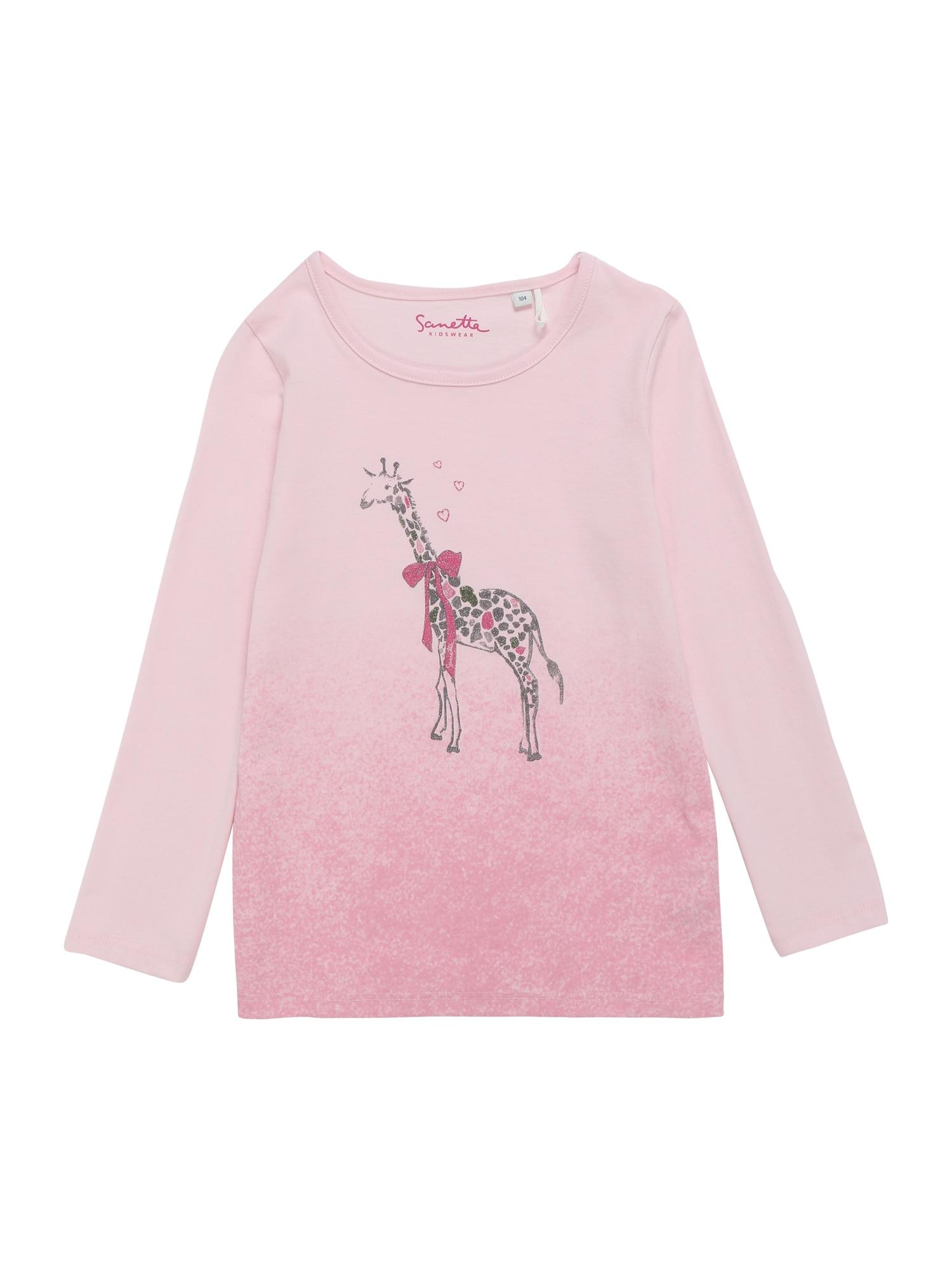 Sanetta Kidswear Marškinėliai ryškiai rožinė spalva
