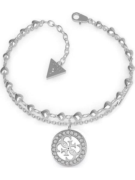 Armbaender für Frauen - GUESS Armband 'Hearts JUBB78025JW' silber  - Onlineshop ABOUT YOU