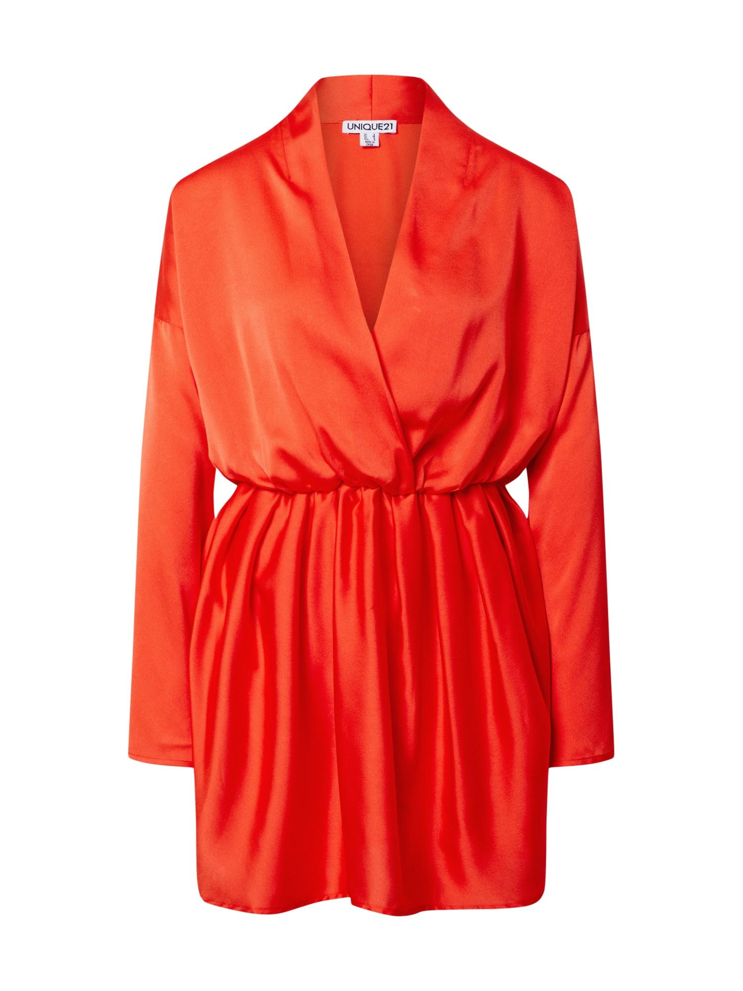 Unique21 Suknelė oranžinė-raudona