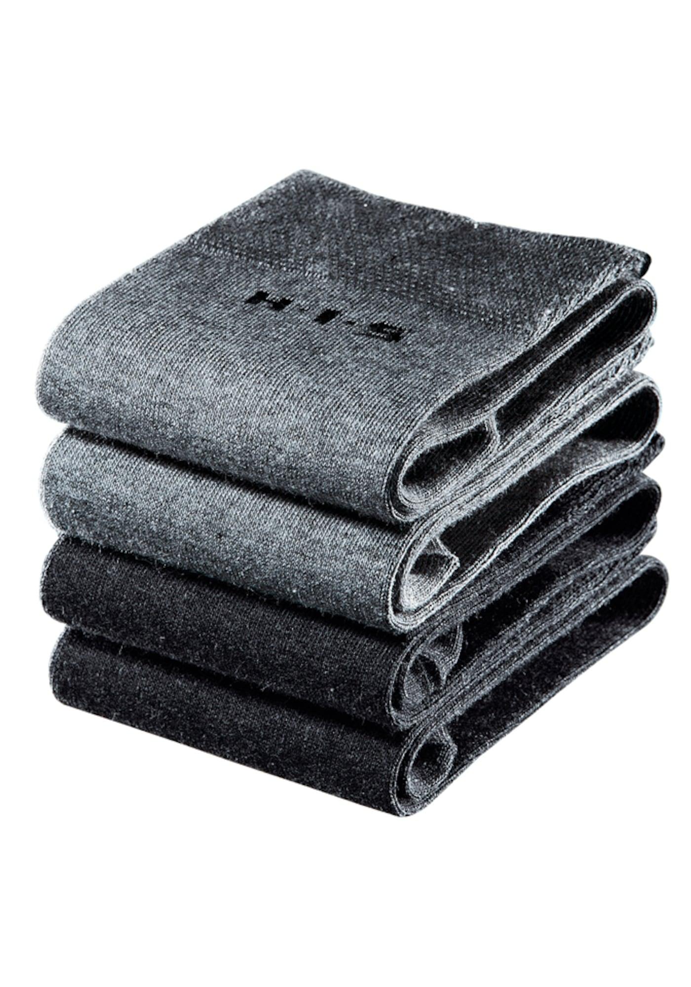 H.I.S Kojinės juoda / pilka
