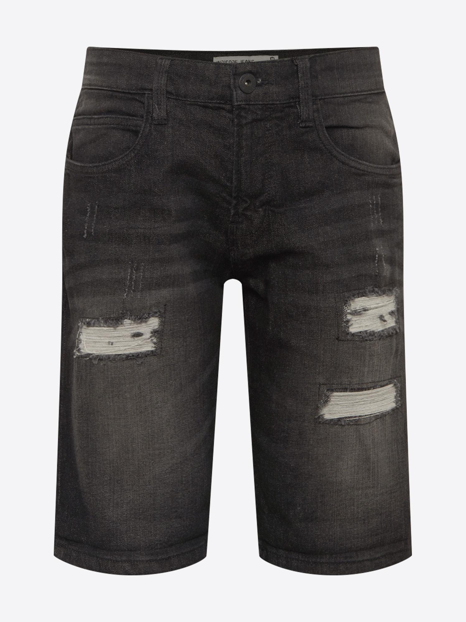 INDICODE JEANS Jeans 'Kaden Holes'  svart denim