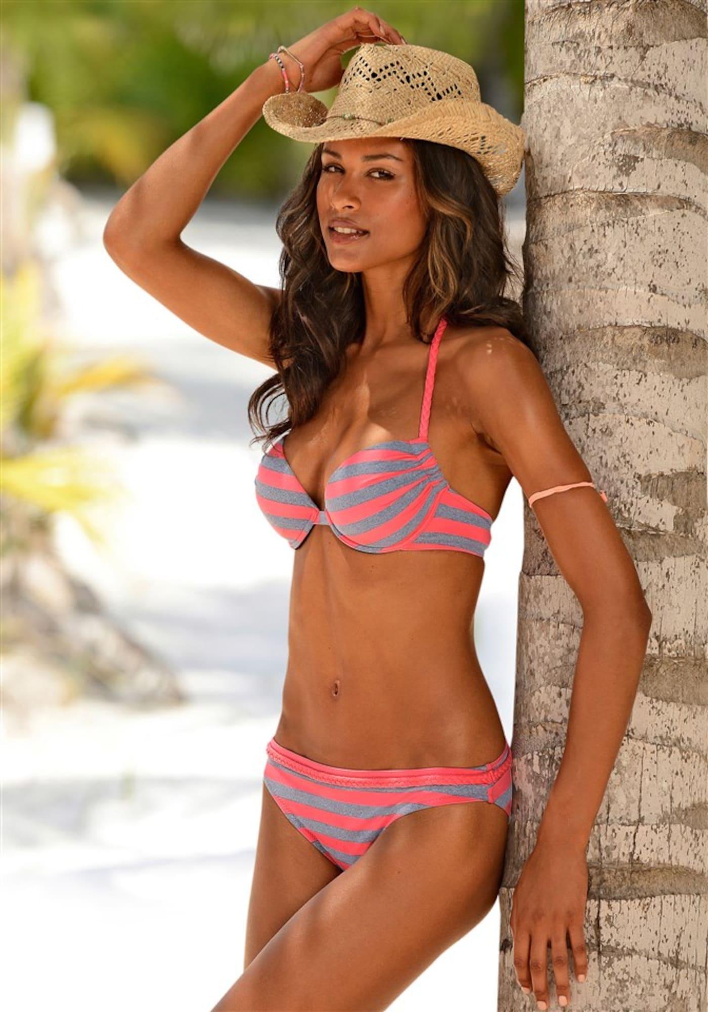 VENICE BEACH Bikinis pilka / rožinė