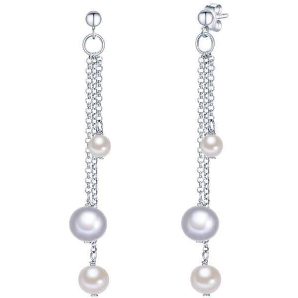 Ohrringe für Frauen - Valero Pearls Silberohrhänger mit Süßwasser Zuchtperlen silber  - Onlineshop ABOUT YOU