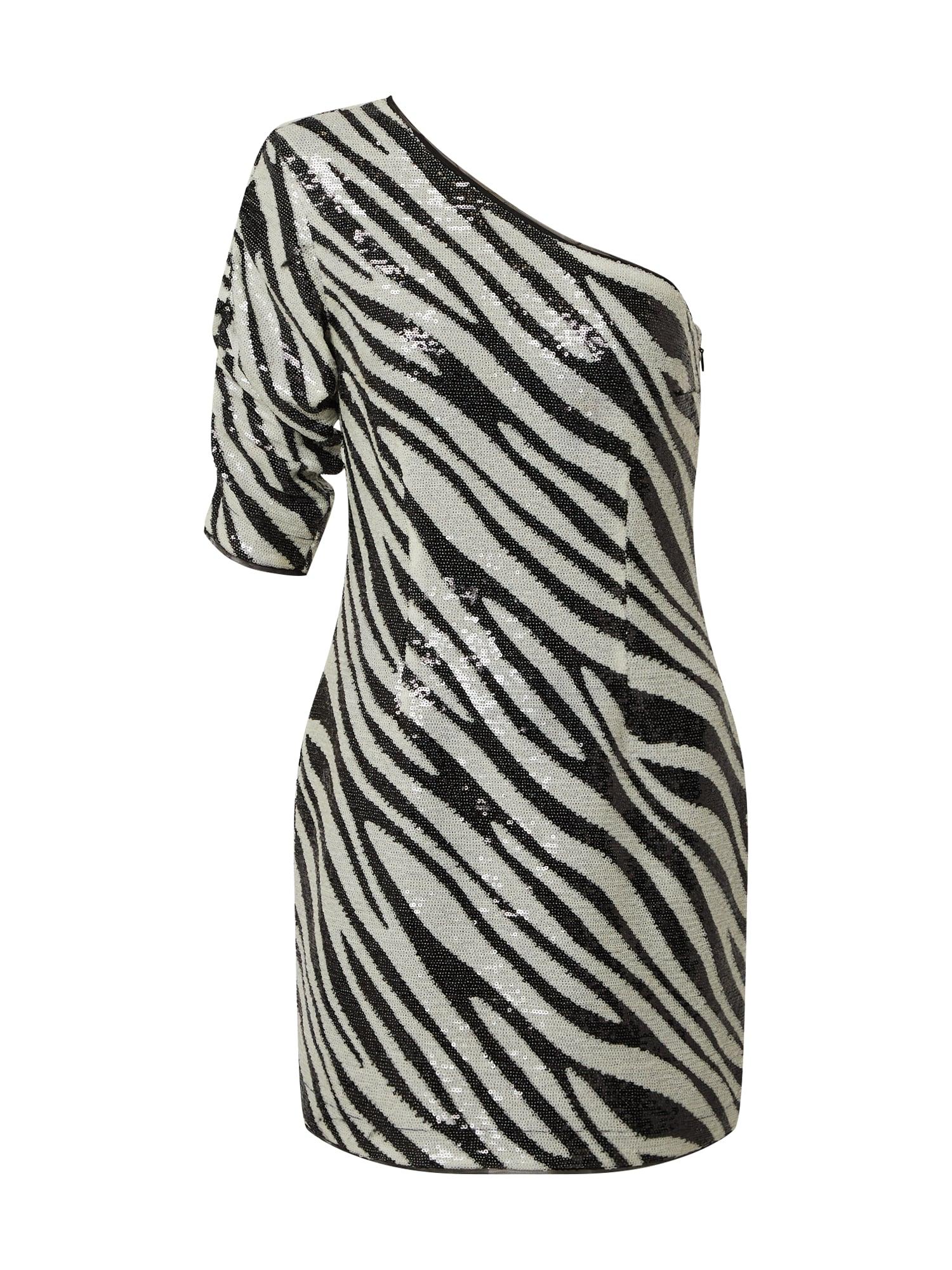 GUESS Kokteilinė suknelė juoda / balta