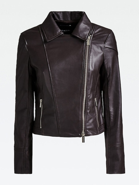 Jacken für Frauen - MARCIANO LOS ANGELES LEDERJACKE dunkelbraun  - Onlineshop ABOUT YOU