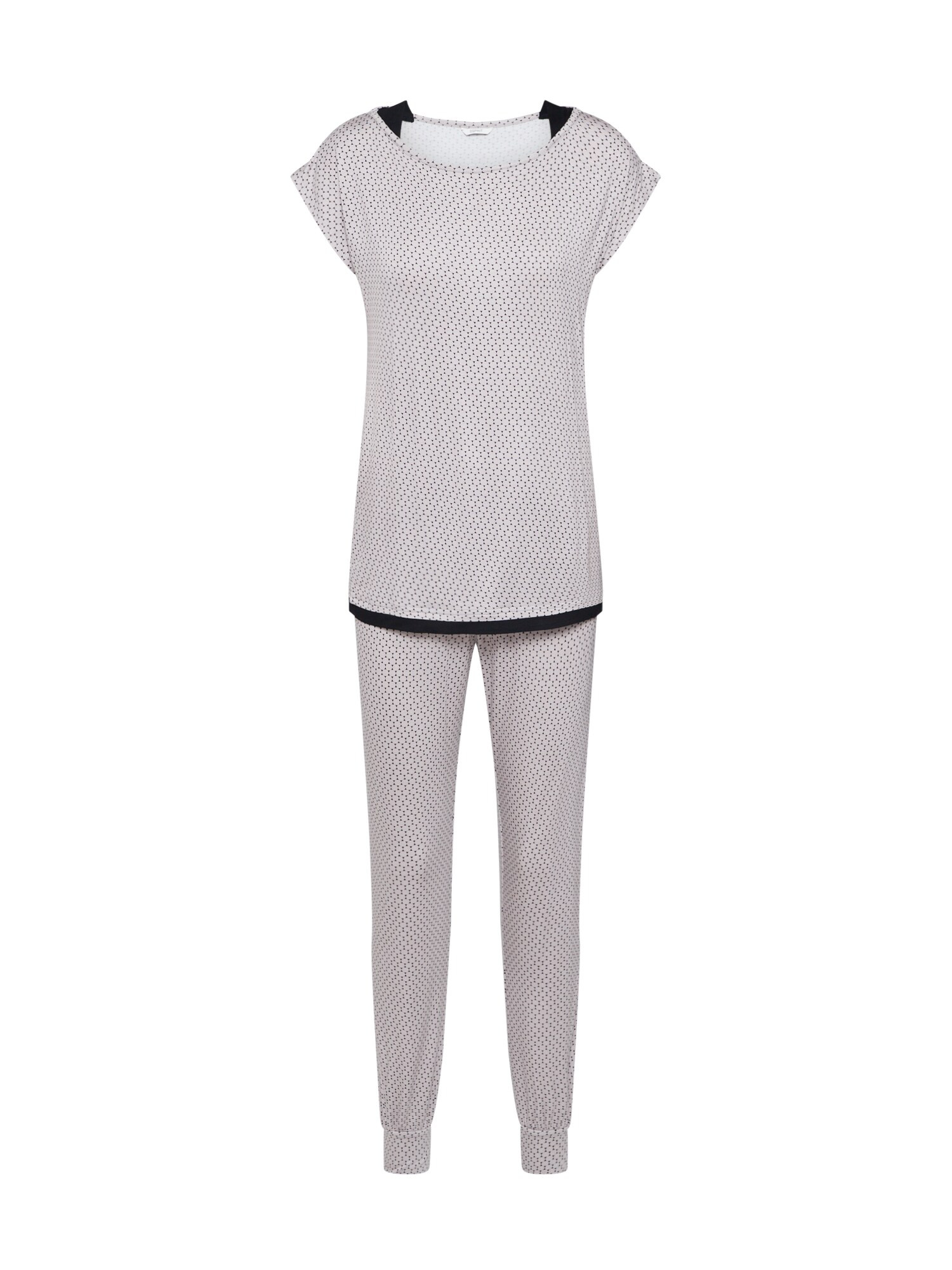 ESPRIT Pižama 'ALANI' kremo / juoda