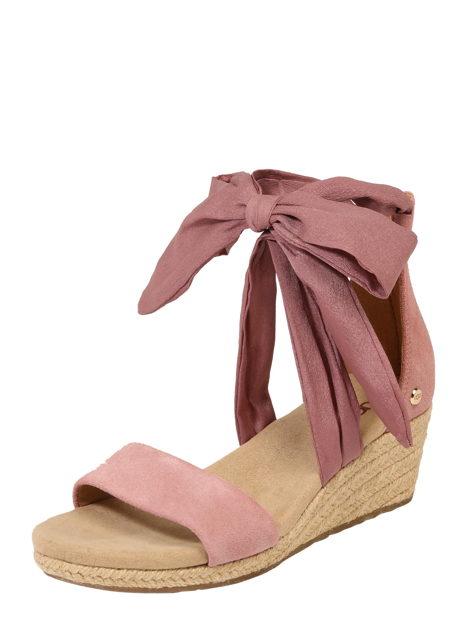 Páskové sandály Trina růžová UGG