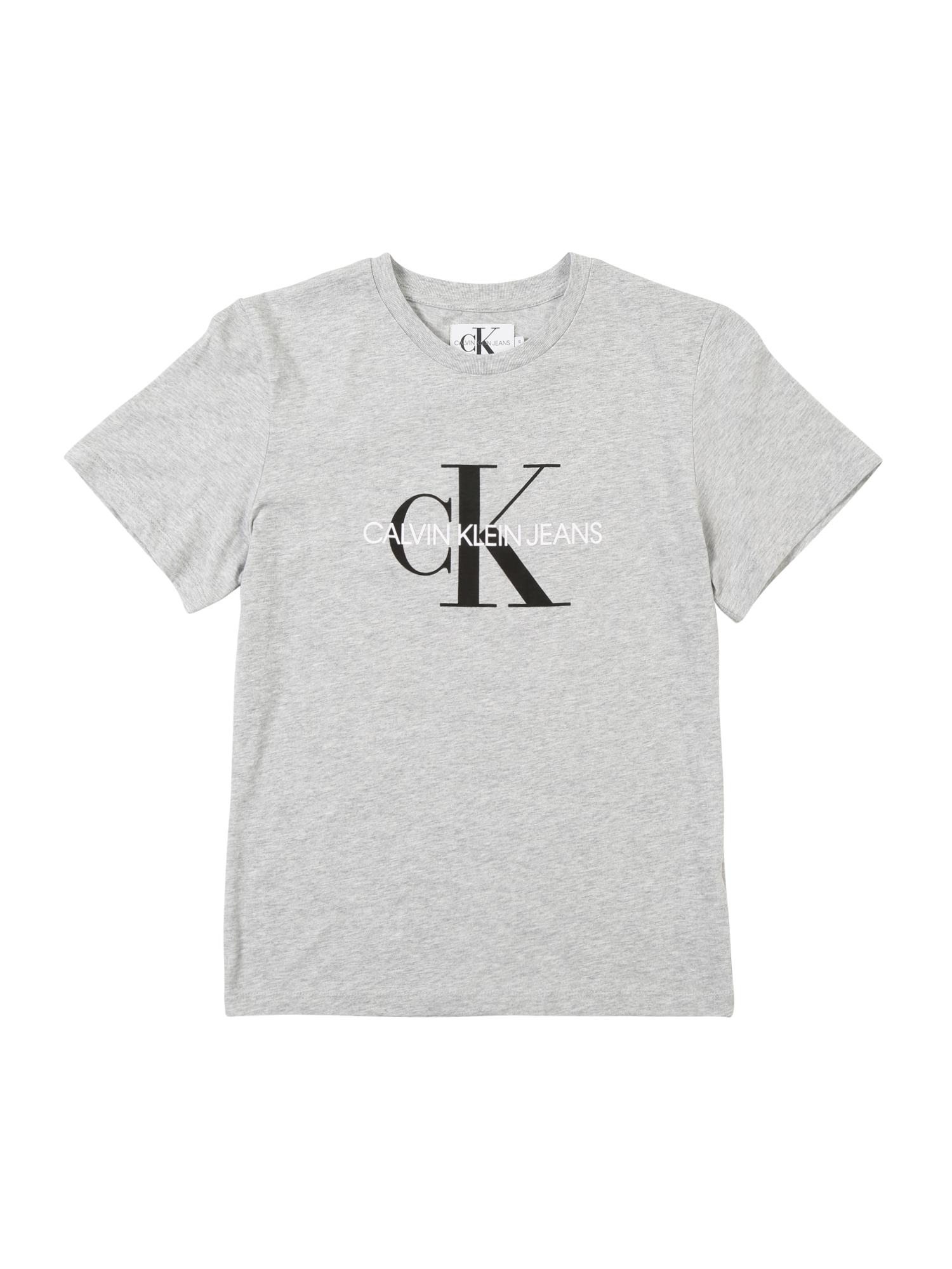 Calvin Klein Jeans Marškinėliai šviesiai pilka