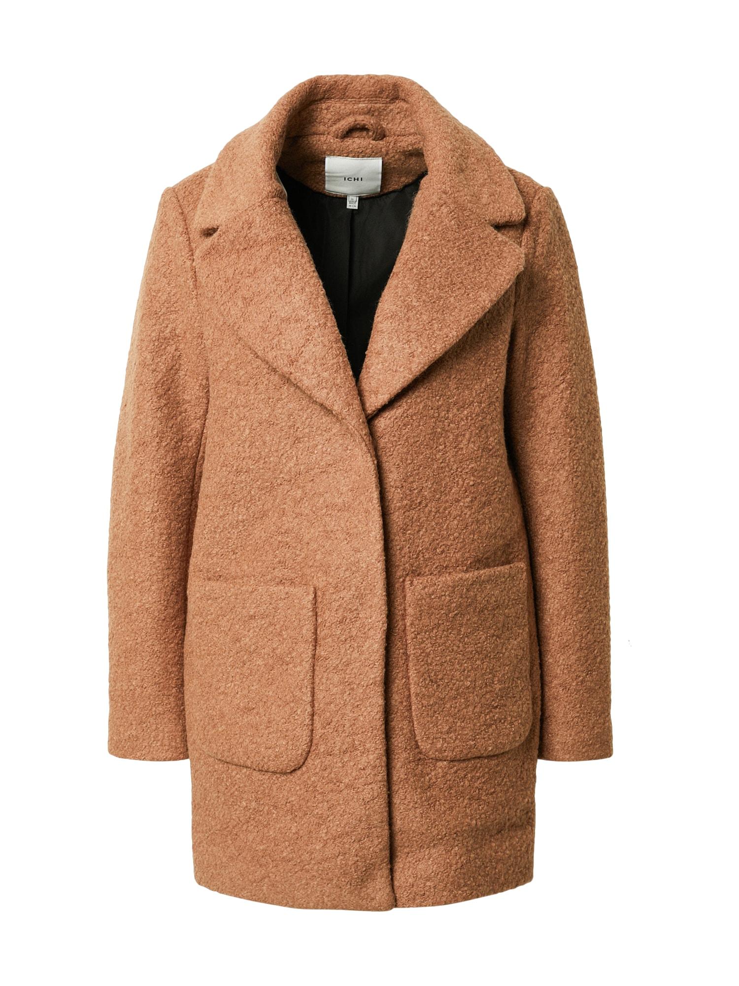 ICHI Demisezoninis paltas ruda