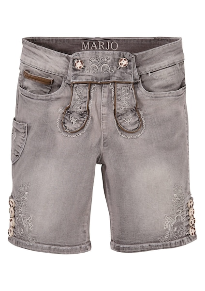 Hosen - Trachtenbermuda › MARJO › grau  - Onlineshop ABOUT YOU