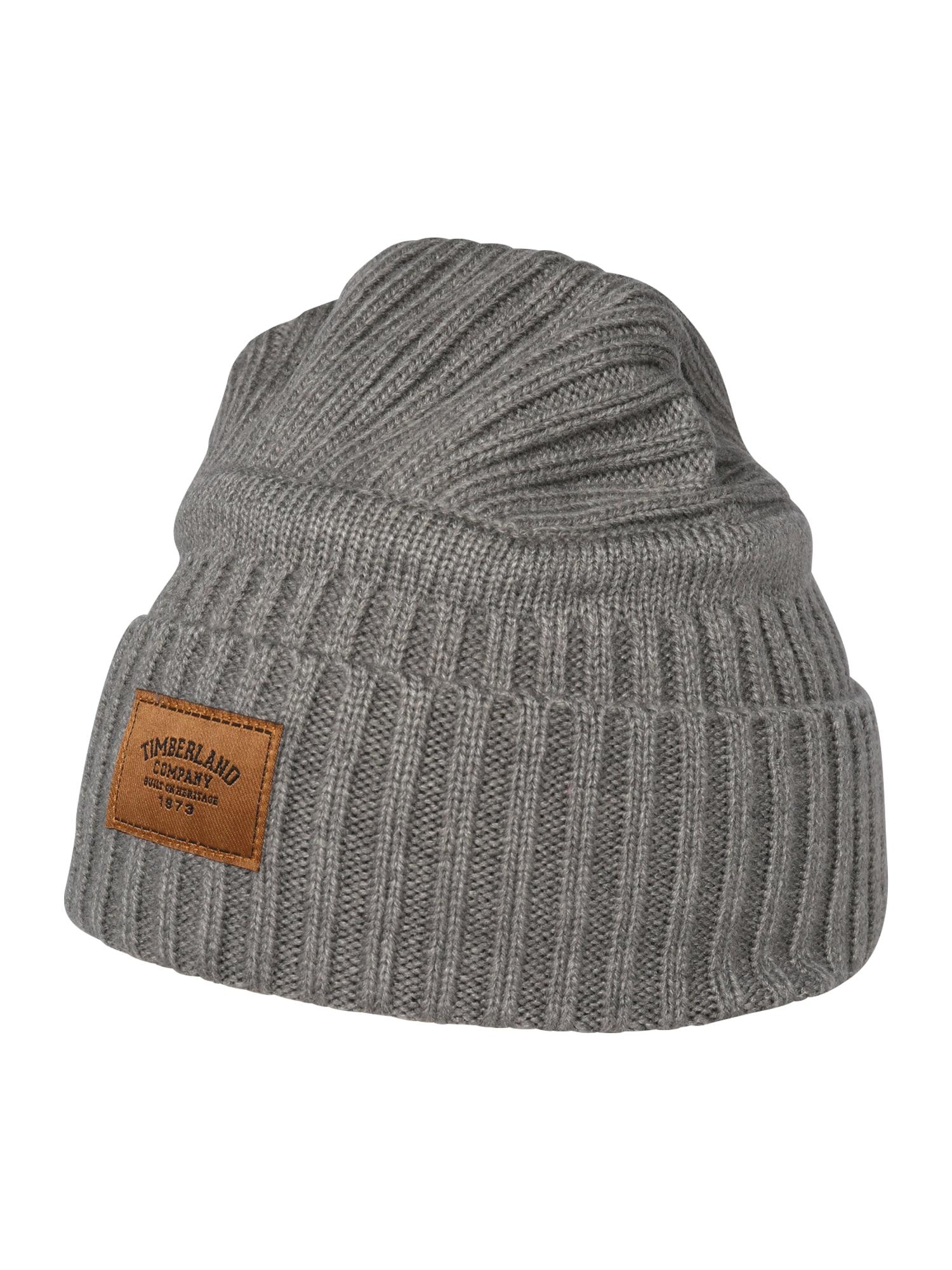 TIMBERLAND Megzta kepurė karamelės / pilka