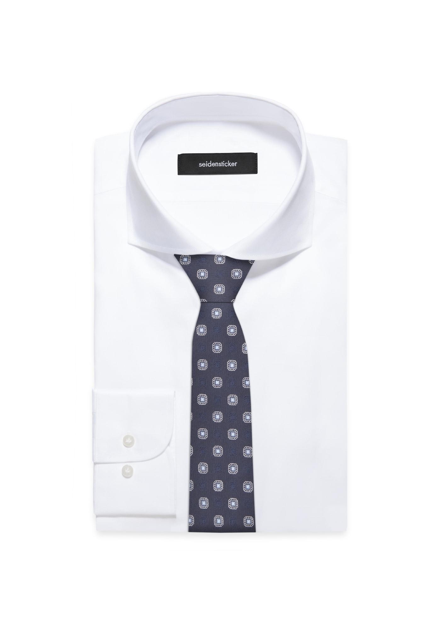 SEIDENSTICKER Cravate 'Schwarze Rose'  bleu clair / bleu foncé / blanc