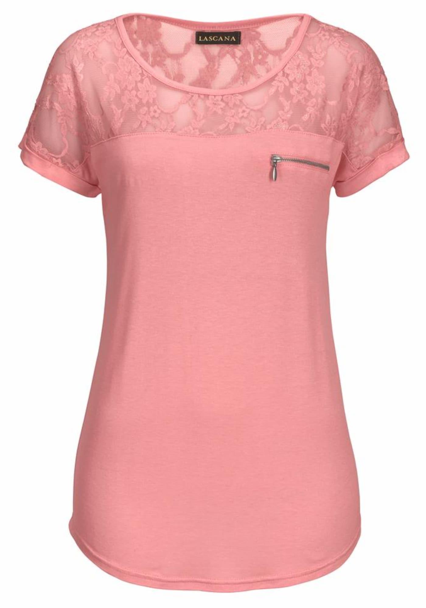 LASCANA Marškinėliai ryškiai rožinė spalva
