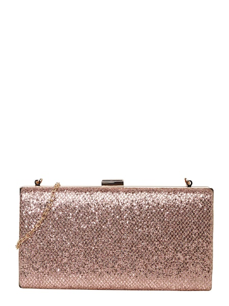 Clutches für Frauen - Mascara Clutch 'METALLIC SNAKE' mit Gliederkette rosé  - Onlineshop ABOUT YOU