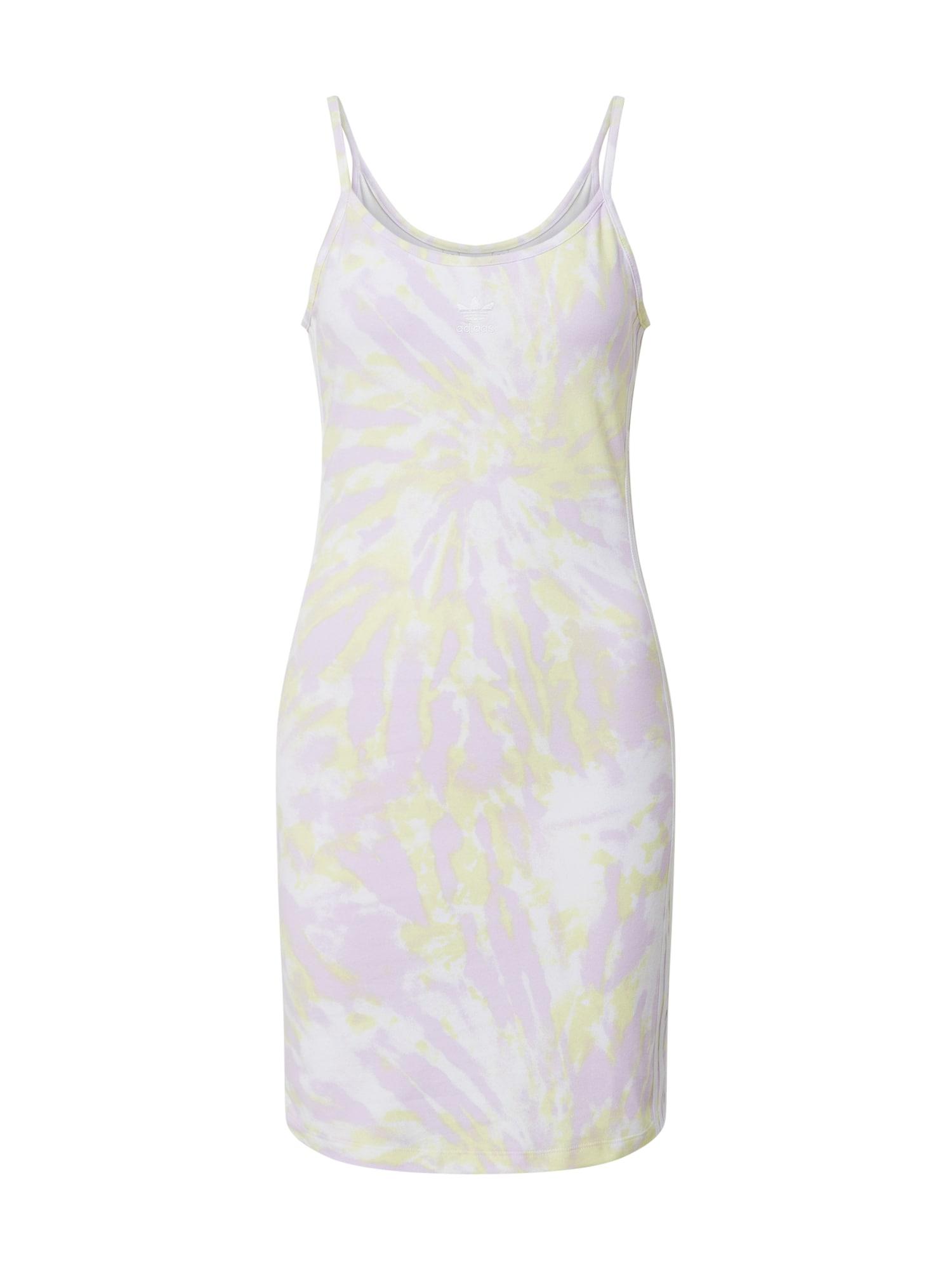 ADIDAS ORIGINALS Suknelė balkšva / pastelinė violetinė / pastelinė geltona