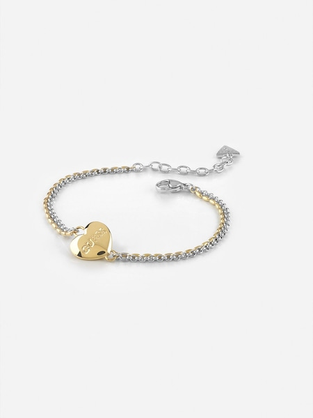 Armbaender für Frauen - GUESS Armband 'Unchain My Heart' gold silber  - Onlineshop ABOUT YOU