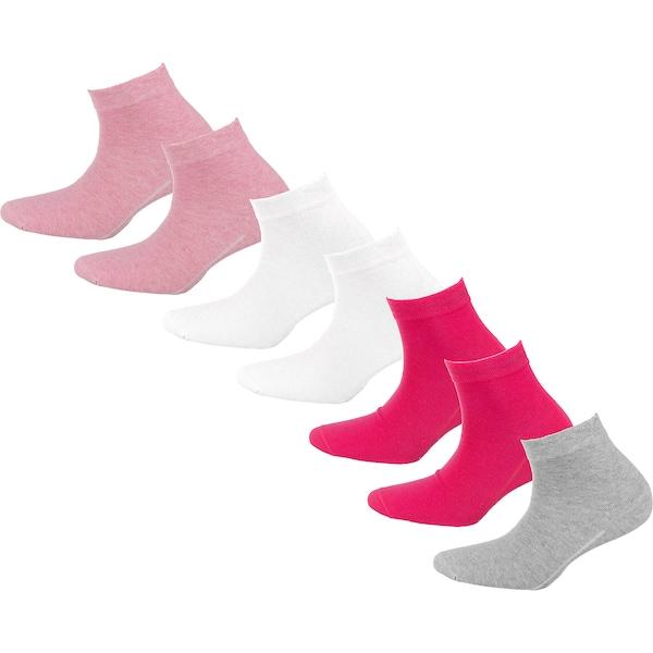 Socken für Frauen - Kurzsocken › Camano › hellgrau hellpink dunkelpink weiß  - Onlineshop ABOUT YOU