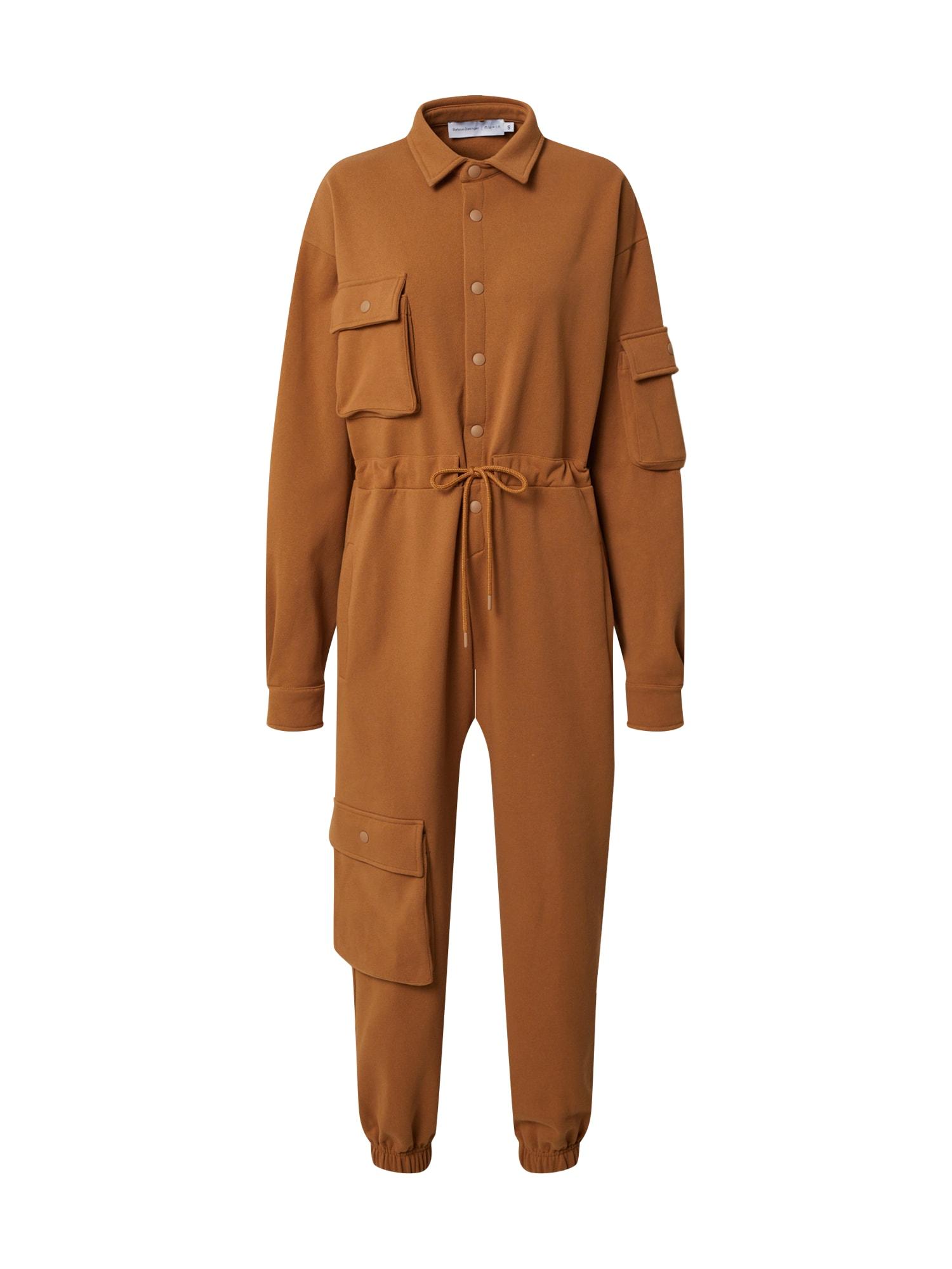 NU-IN Kombinezono tipo kostiumas 'Oversized' ruda