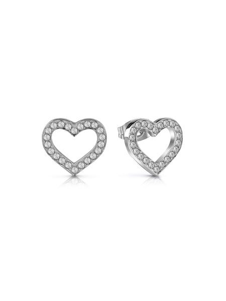 Ohrringe für Frauen - GUESS Ohrringe 'Shine On Me' silber weiß  - Onlineshop ABOUT YOU