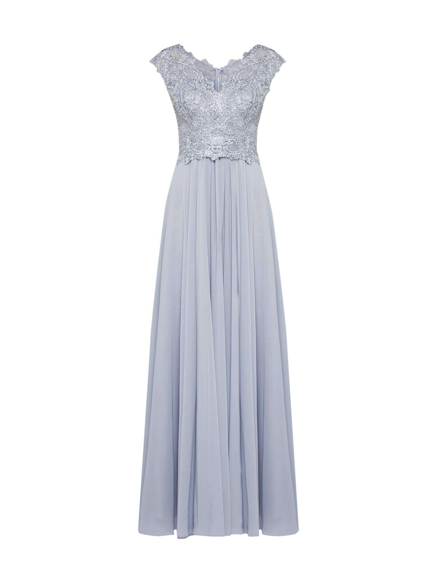 Společenské šaty stříbrně šedá LUXUAR