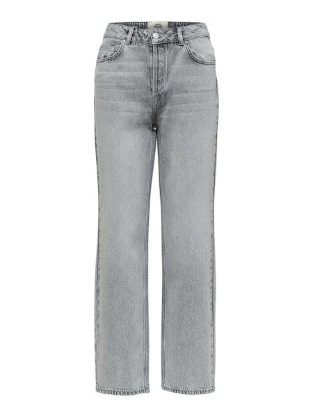 Hosen - Petite High Waist Straight Fit Jeans › Selected Femme › grau  - Onlineshop ABOUT YOU