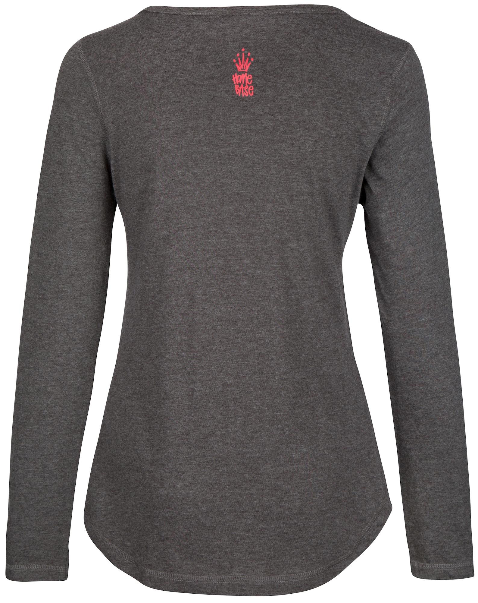 HOMEBASE, Damen Shirt Brandalised by Homebase, grijs / donkergrijs / grijs gemêleerd