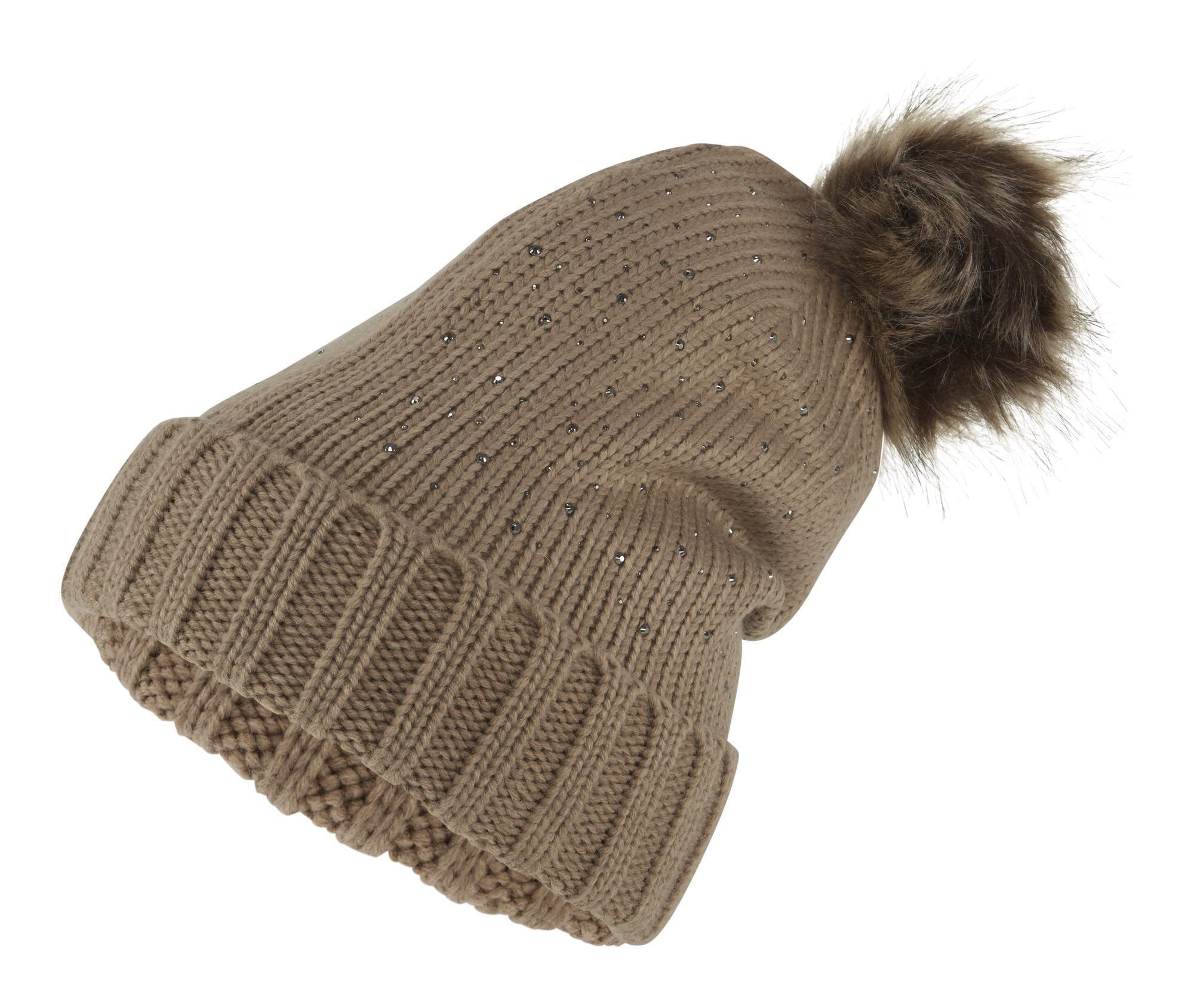 heine Megzta kepurė smėlio / ruda