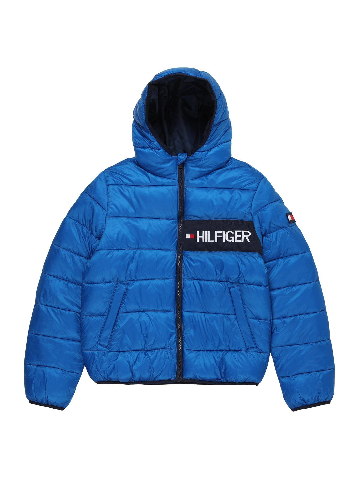 TOMMY HILFIGER Zimní bunda 'Essential'  modrá