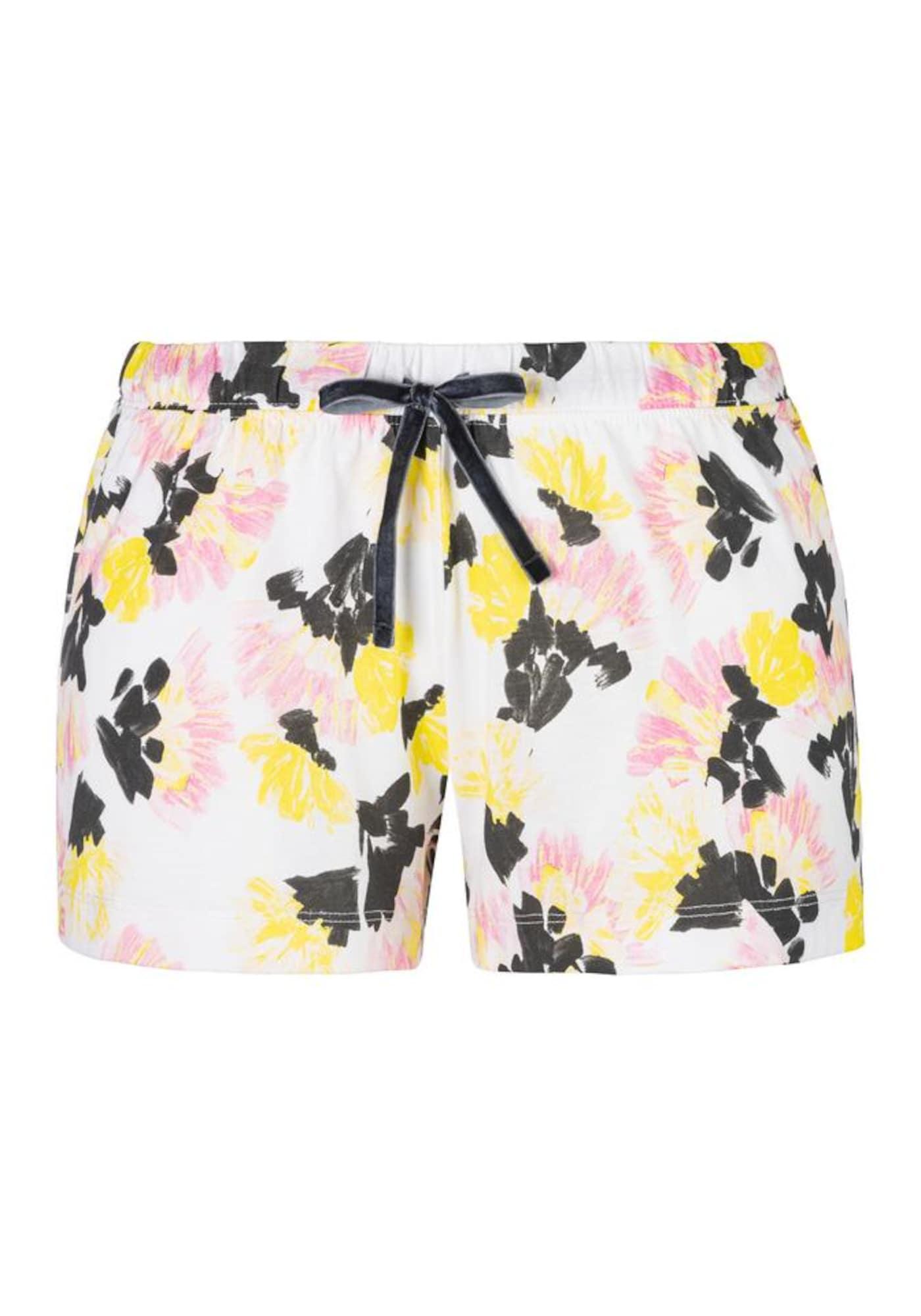 VIVANCE Pižaminės kelnės balta / juoda / geltona / rožių spalva