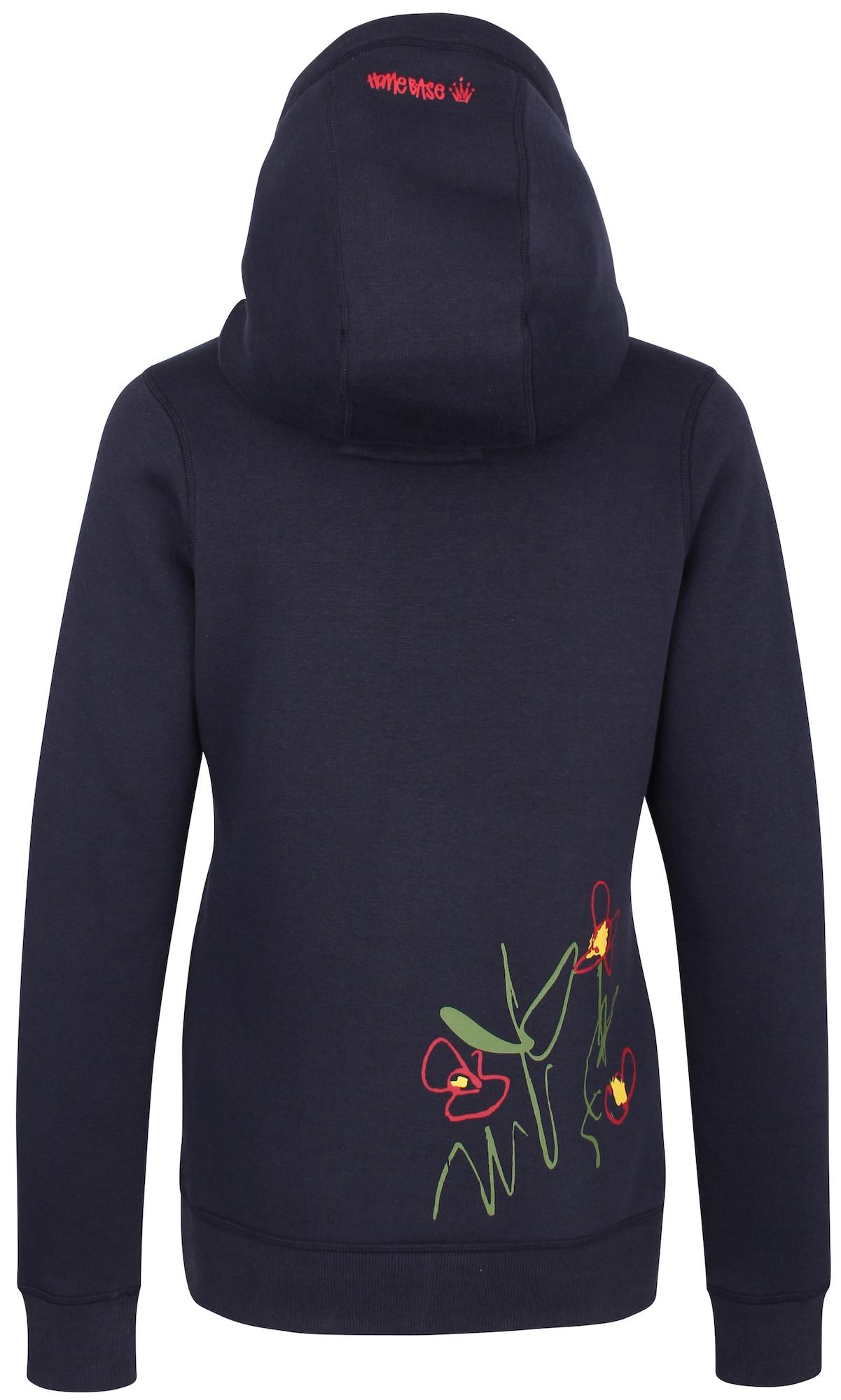 HOMEBASE, Damen Sweatshirt, donkerblauw / geel / grasgroen / lichtrood / wit