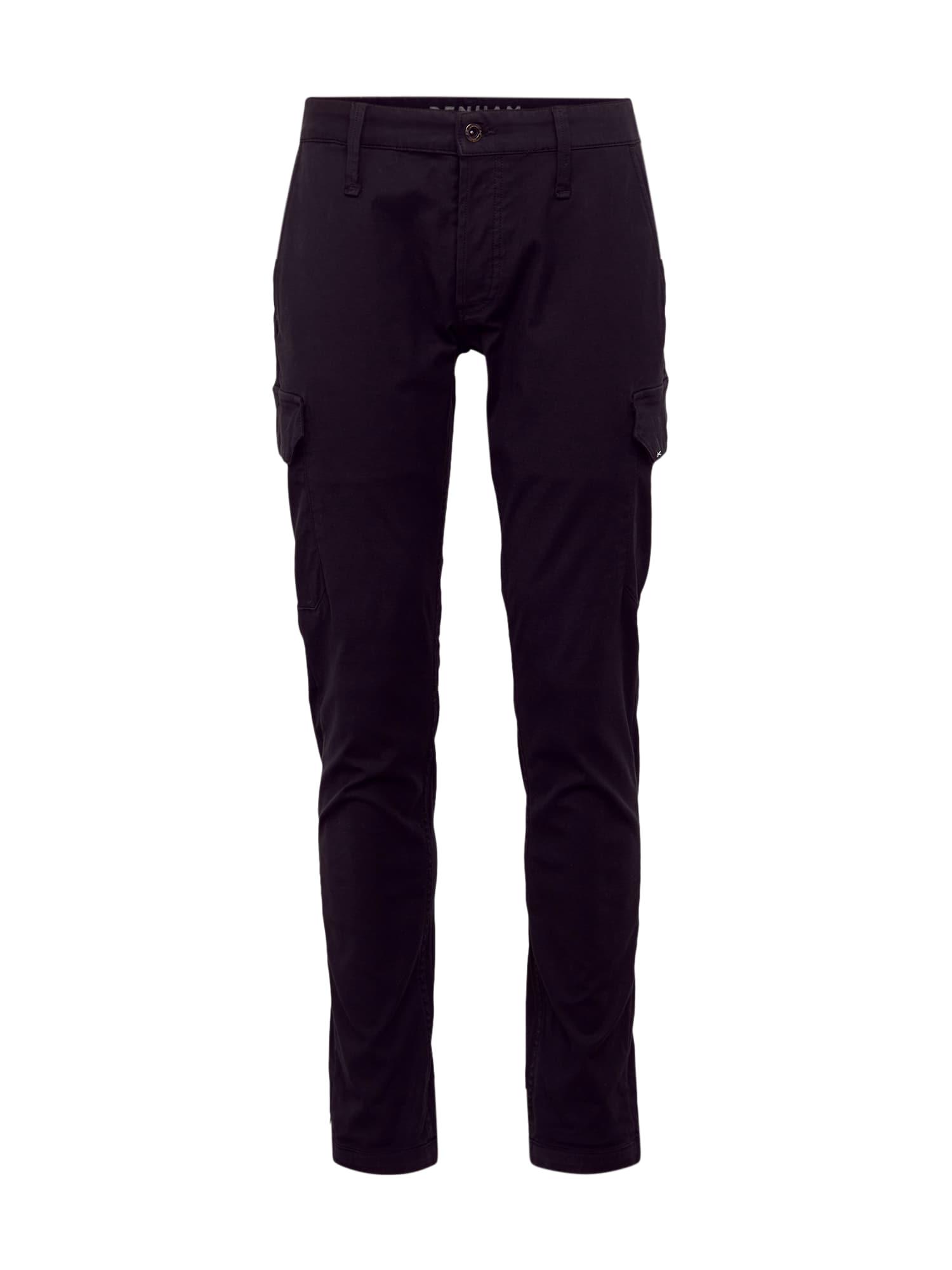 DENHAM Džinsai 'YORK-CARGO WLPRS' juodo džinso spalva