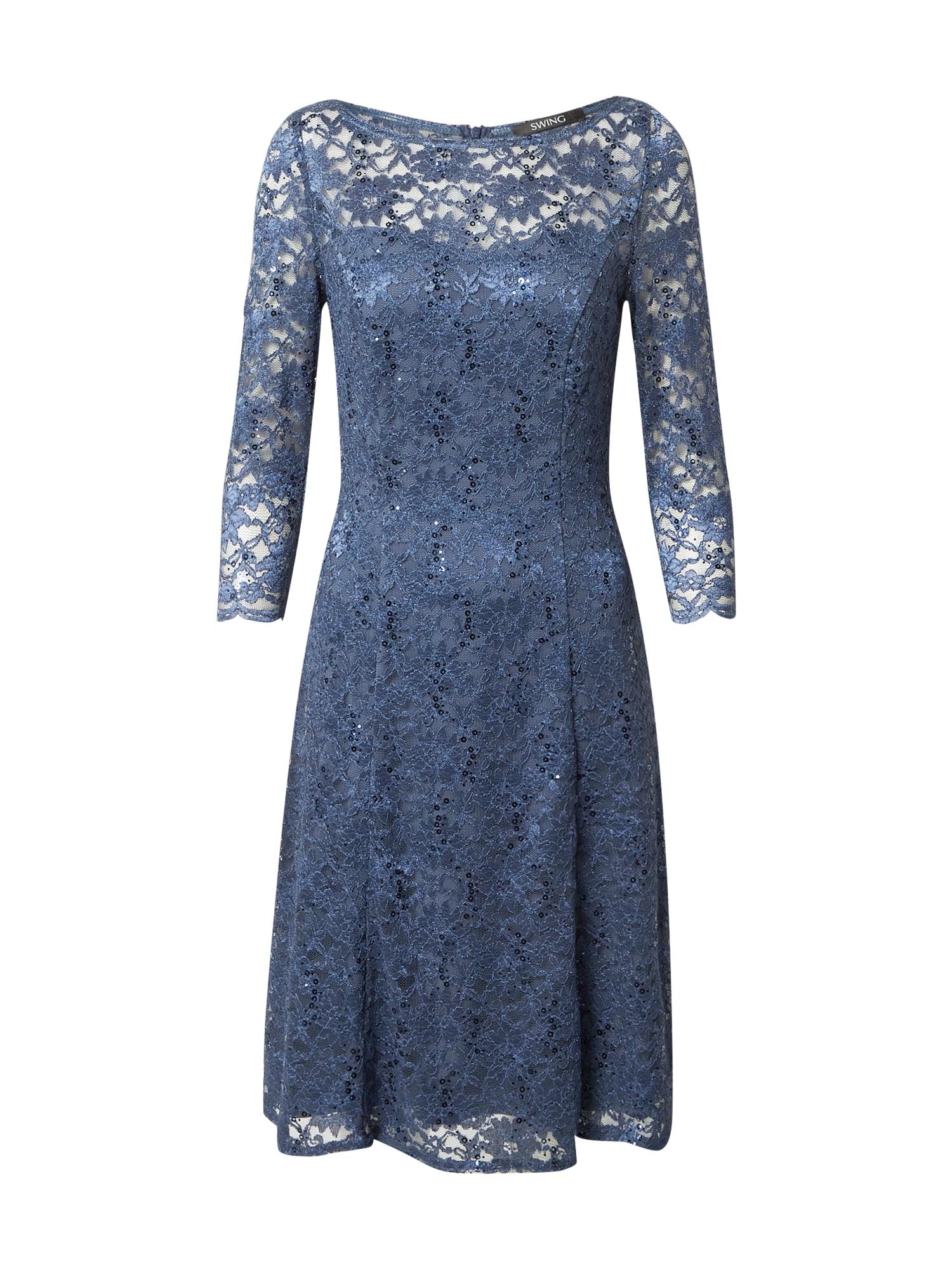 SWING Kokteilinė suknelė melsvai pilka