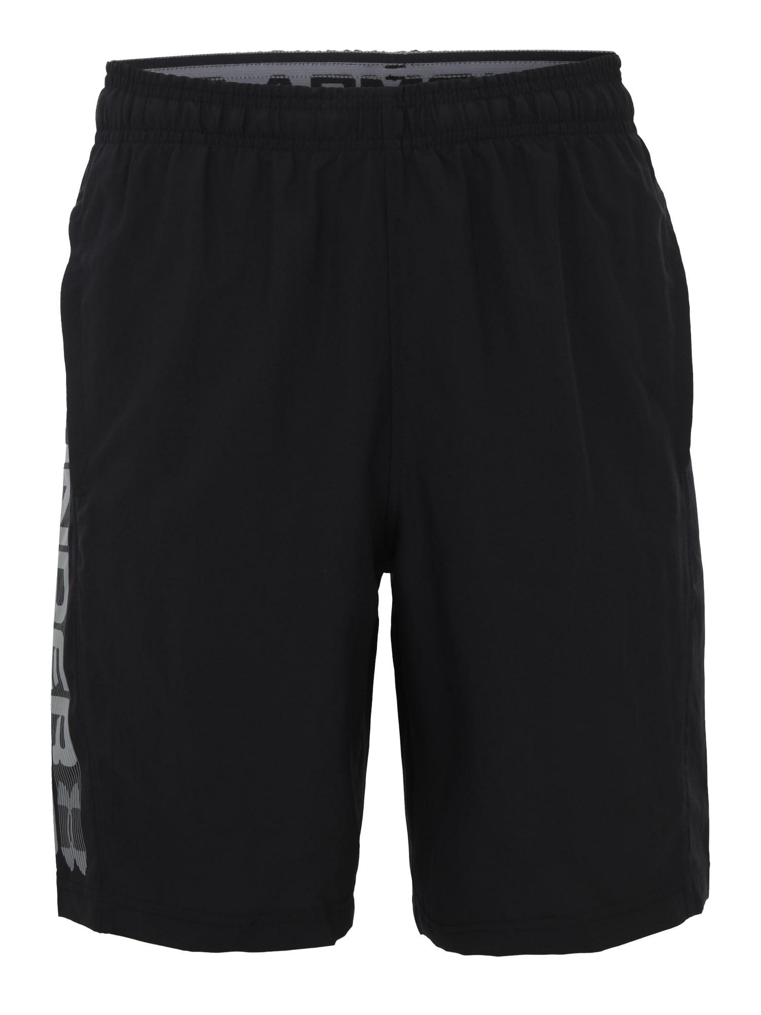 UNDER ARMOUR Sportinės kelnės pilka / juoda