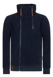 Naketano Herren Zipped Jacket Schnitzelpopizel blau,braun   04049502858579