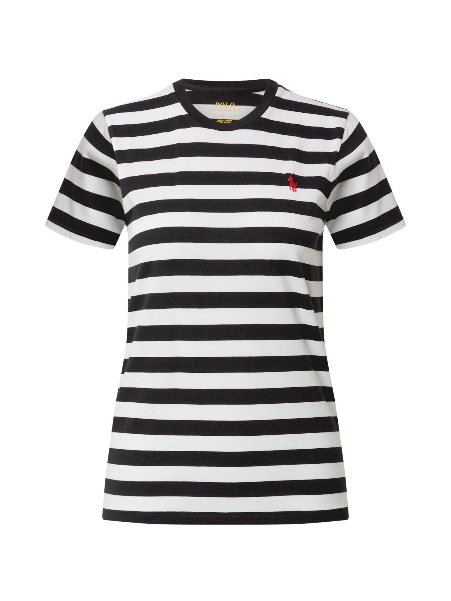 POLO RALPH LAUREN Póló  fehér / fekete / piros
