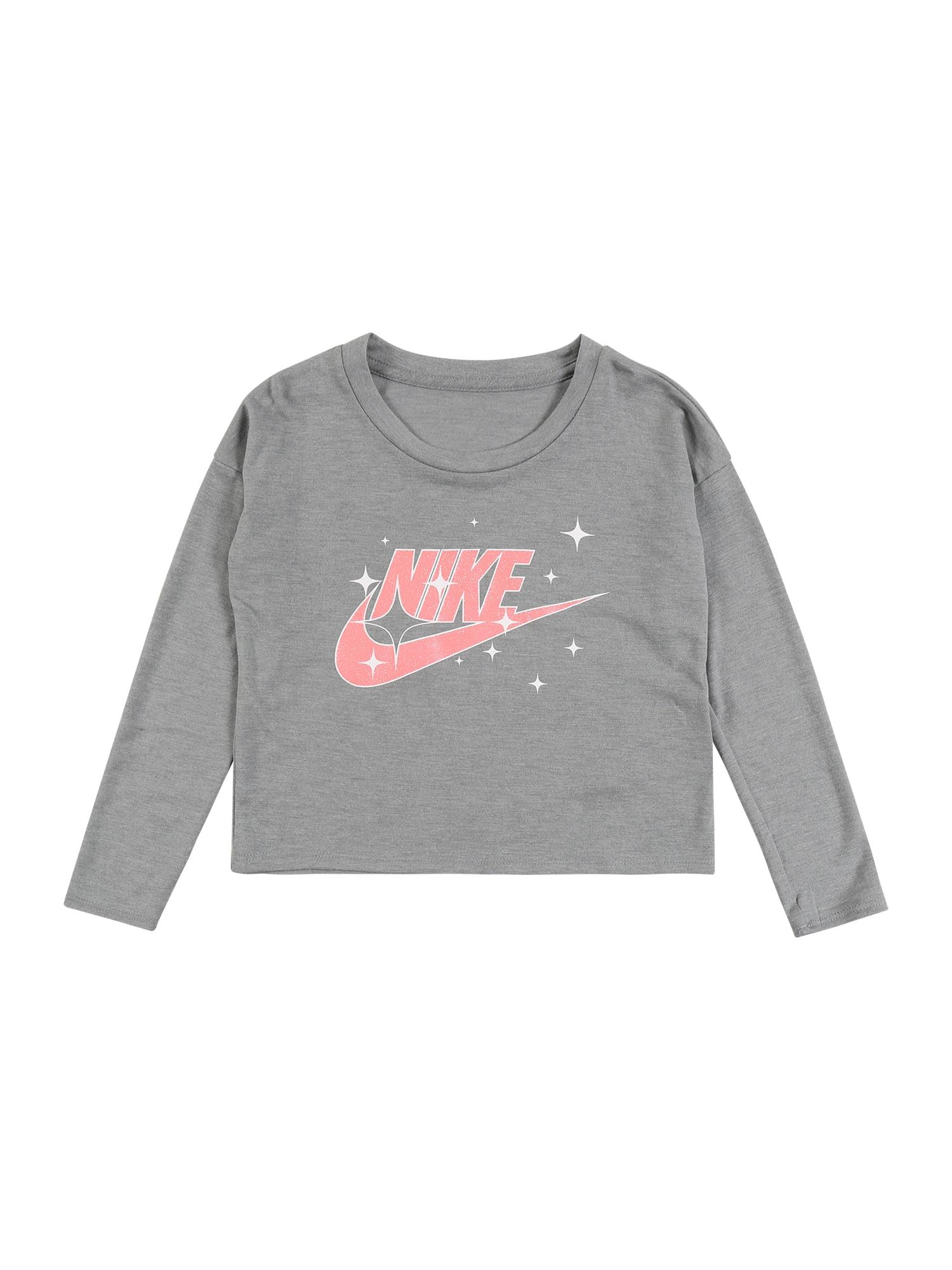 Nike Sportswear Marškinėliai 'FUTURA STAR S/S TEE' margai pilka