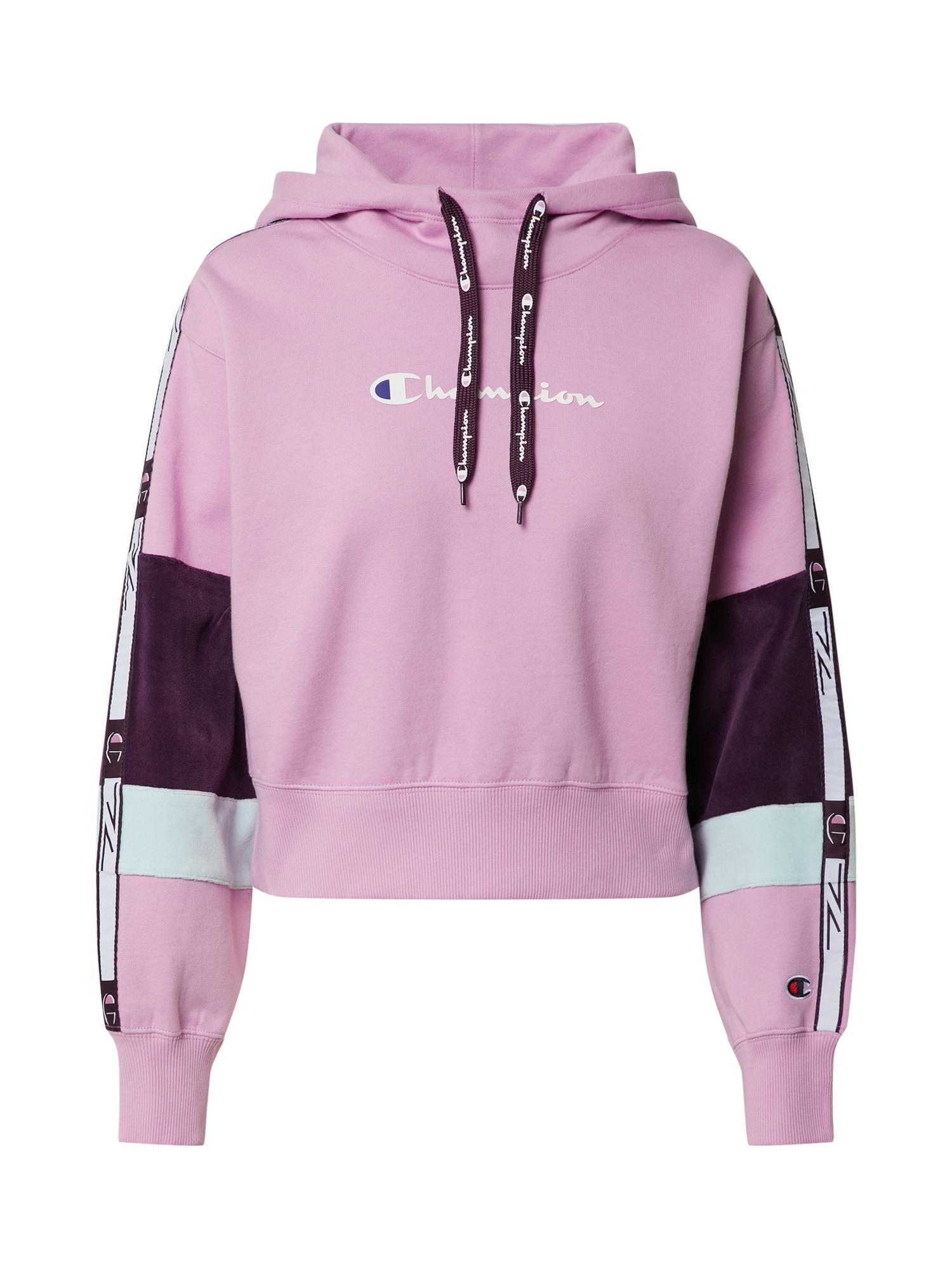 Champion Authentic Athletic Apparel Megztinis be užsegimo purpurinė / balta / tamsiai violetinė