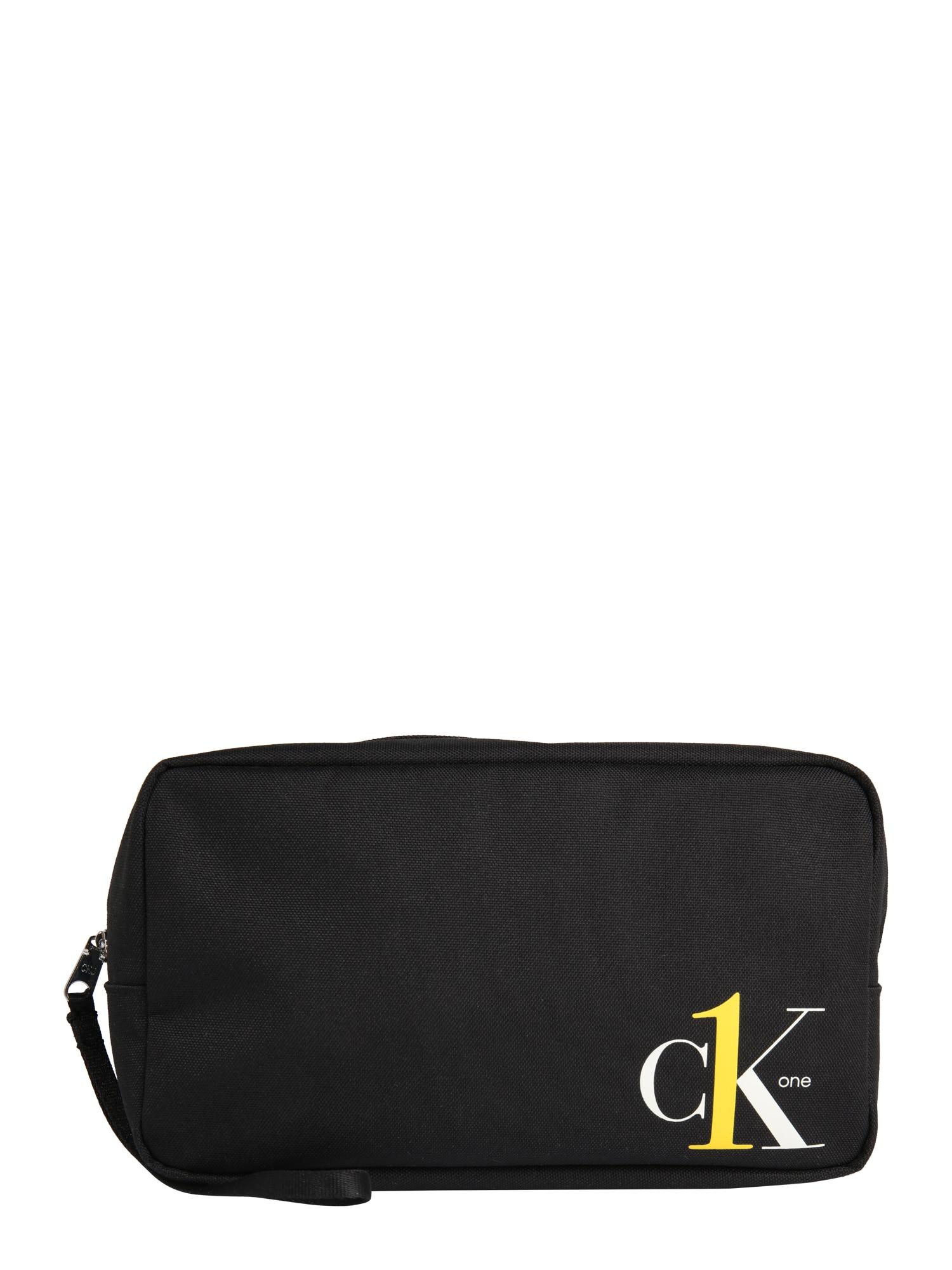 Calvin Klein Jeans Tualeto reikmenų / kosmetikos krepšys balta / juoda