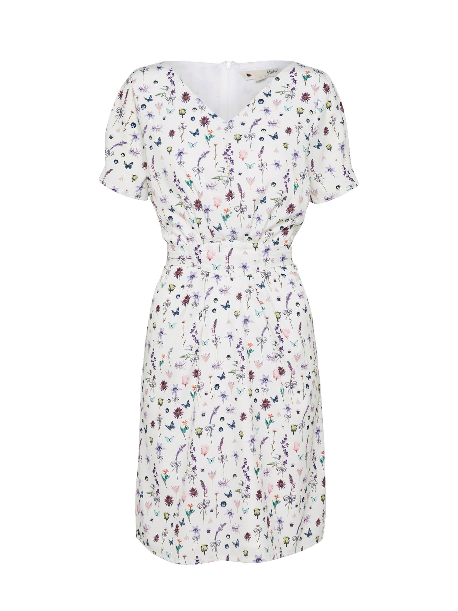 Letní šaty FRENCH BOTANICAL mix barev bílá Yumi