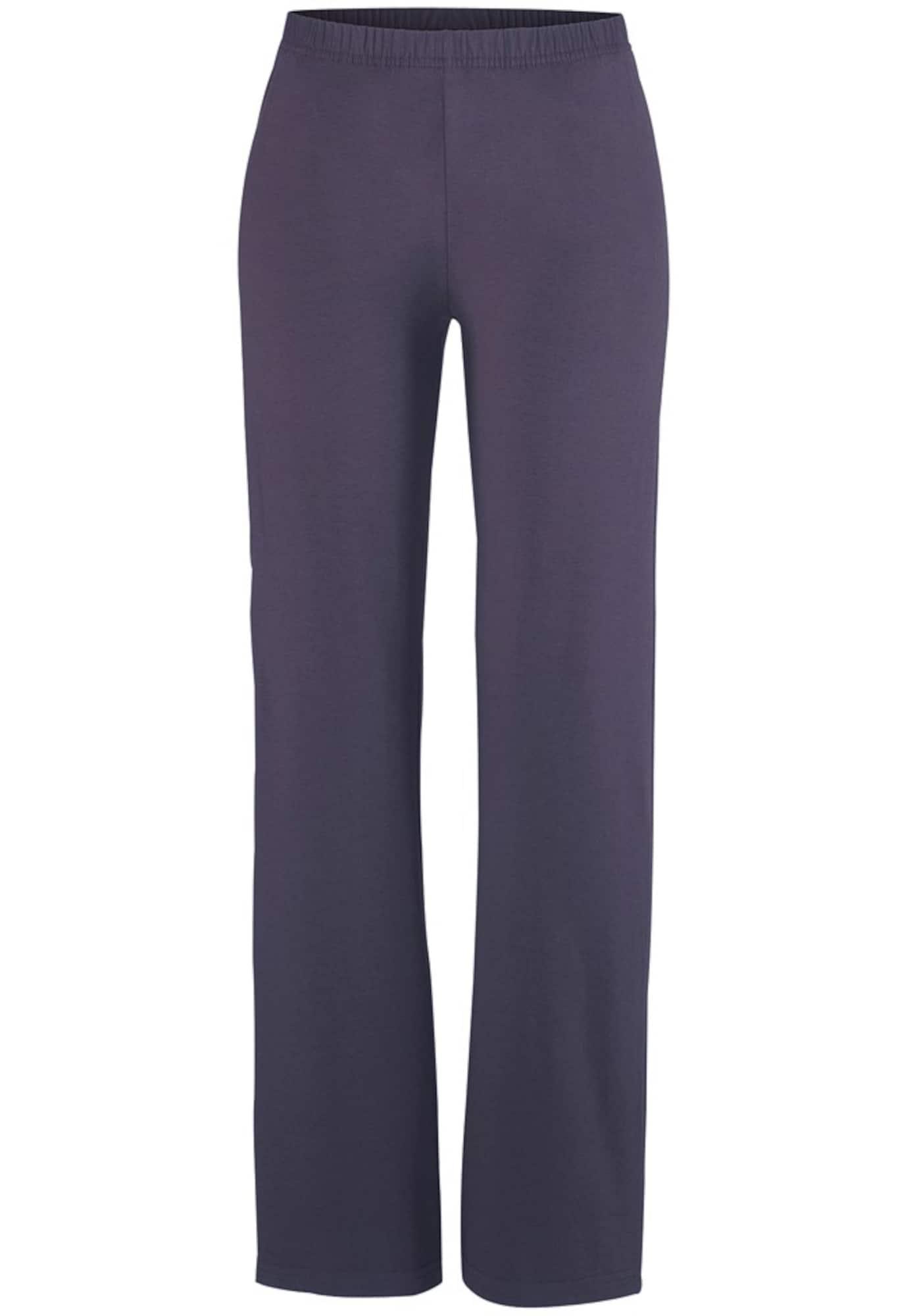VIVANCE Pižaminės kelnės juoda / mėlyna