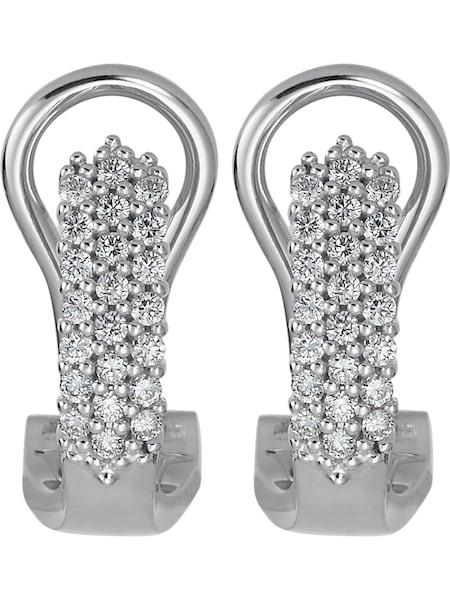 Ohrringe für Frauen - CHRIST Ohrclip 'Diamonds' gold weiß  - Onlineshop ABOUT YOU