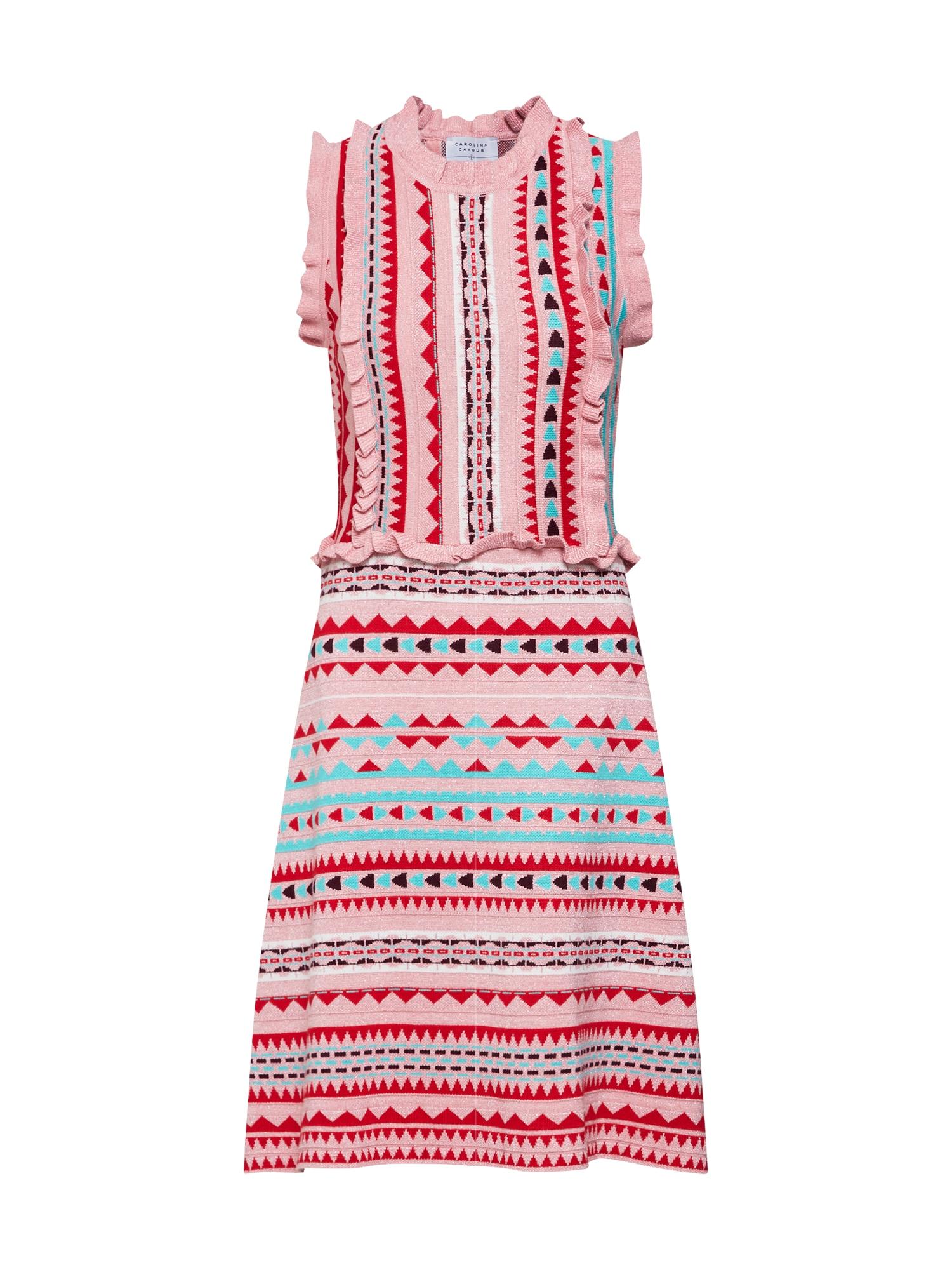 Letní šaty mix barev růžová Carolina Cavour
