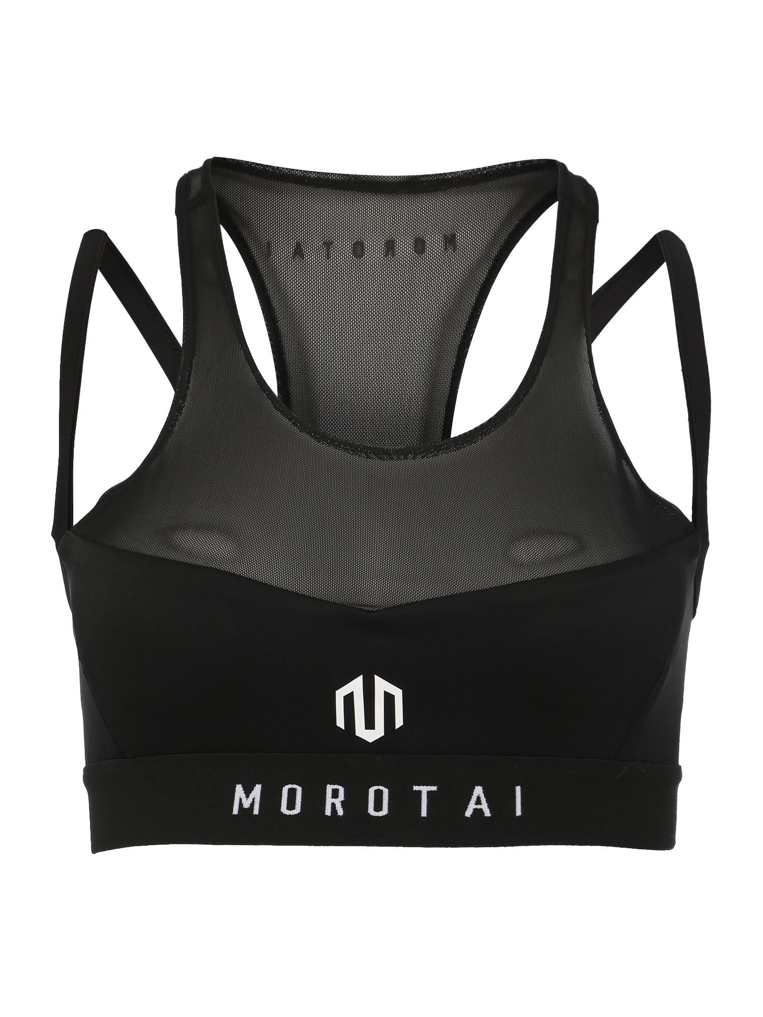 Sportovní podprsenka NAKA Performance černá bílá MOROTAI