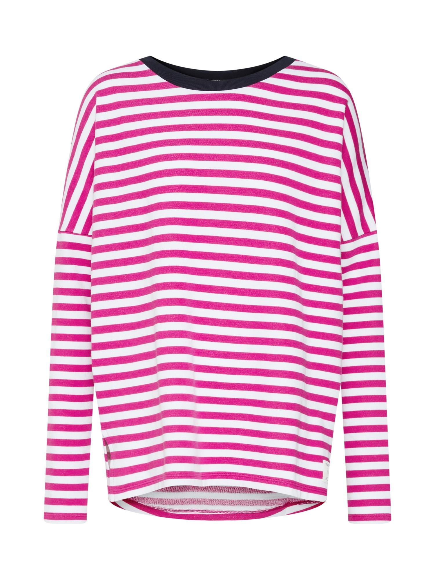 Marc O'Polo DENIM Tričko 'Striped Sweatshirt LS / SWEATSHIRTS'  pink