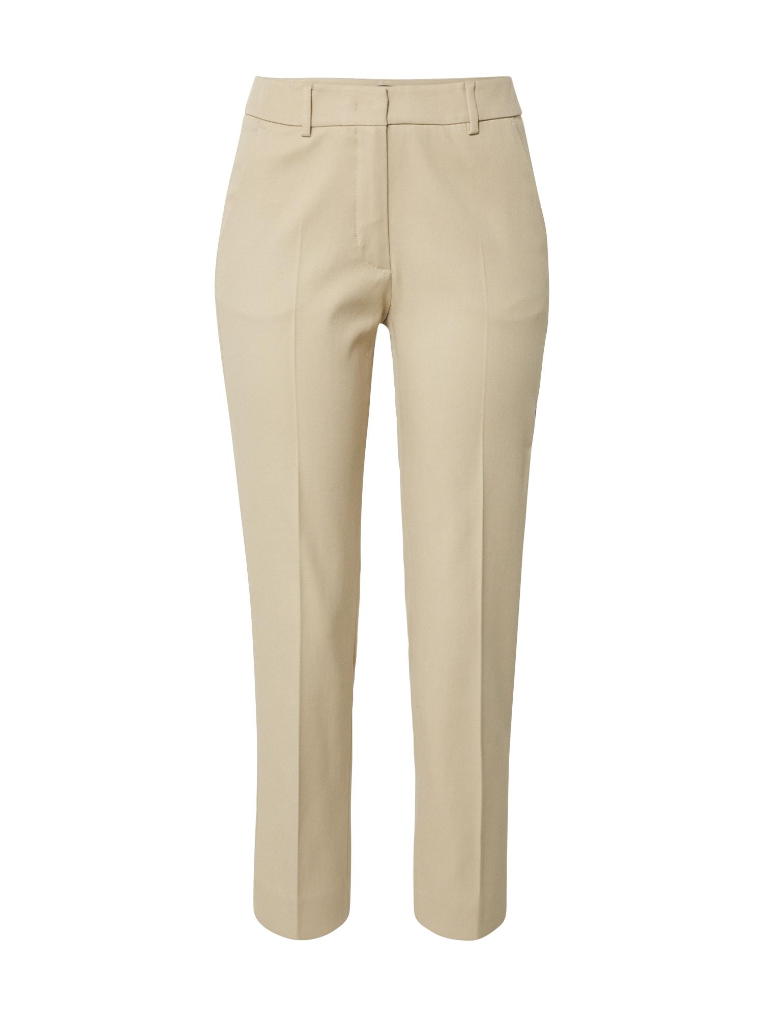 Weekend Max Mara Chino stiliaus kelnės 'LEGENDA' kapučino spalva