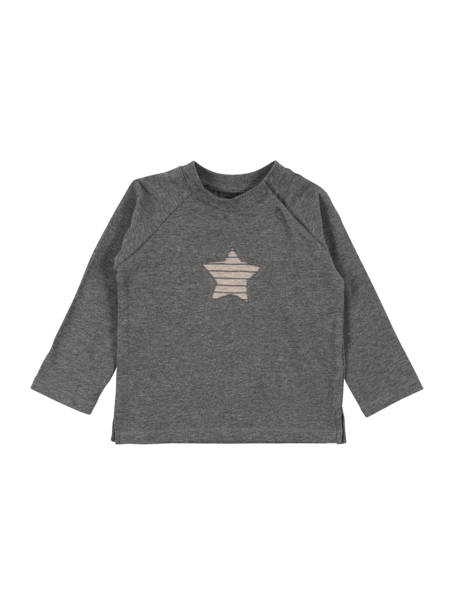 BELLYBUTTON Marškinėliai šviesiai ruda / margai pilka
