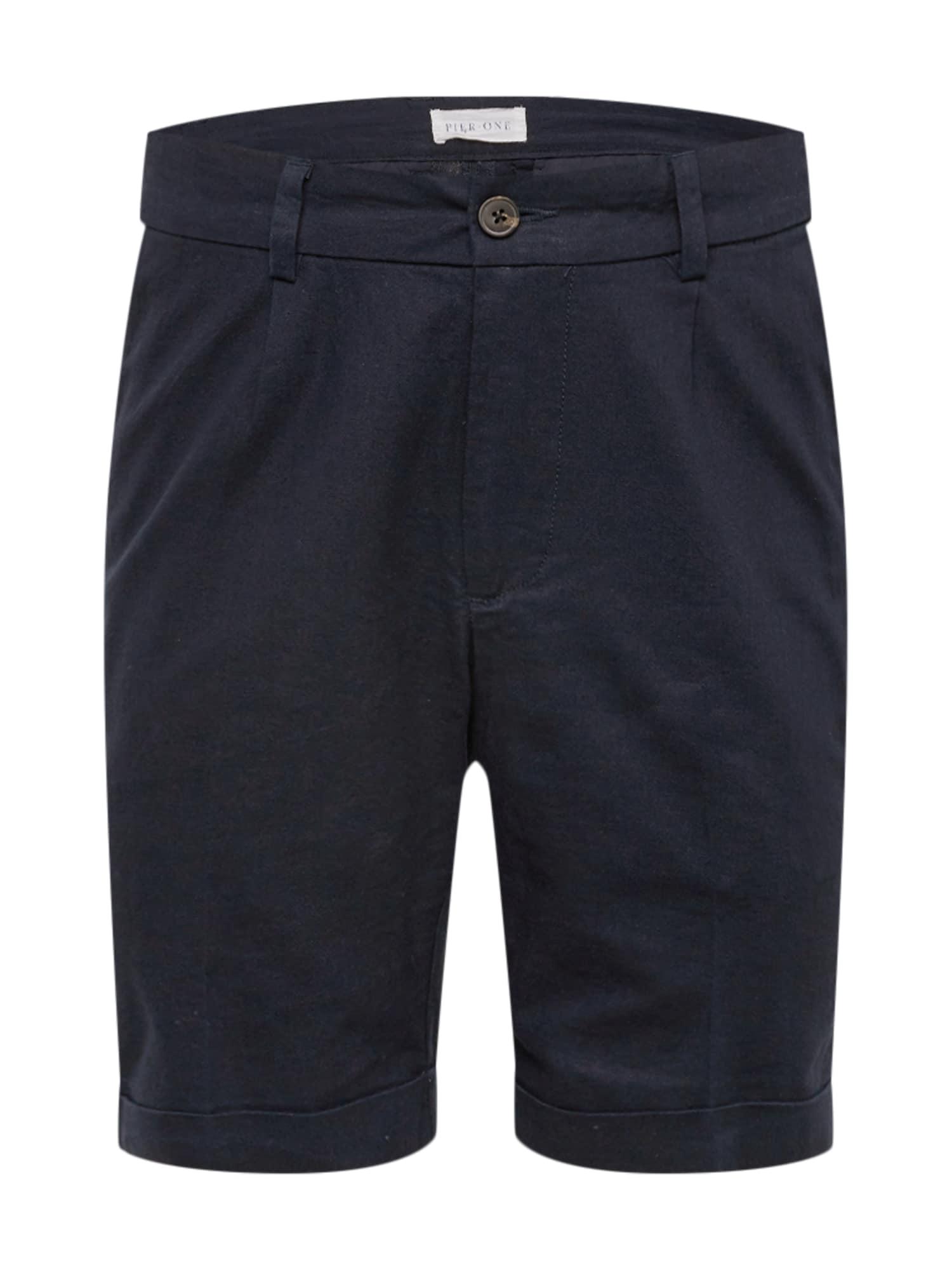 Chino kalhoty Linen Chino Short námořnická modř Pier One