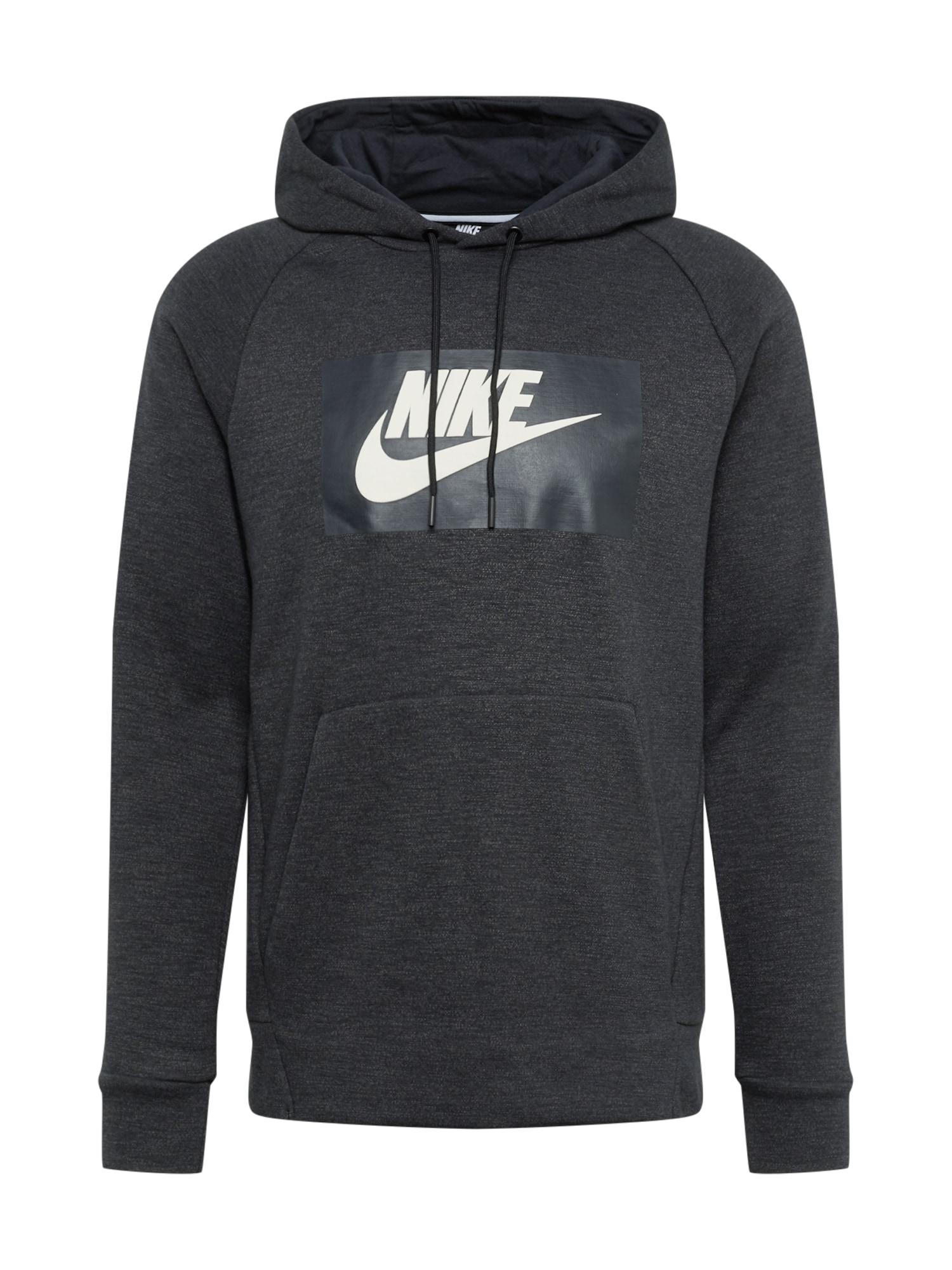 Nike Sportswear Mikina 'OPTIC'  biela / čierna